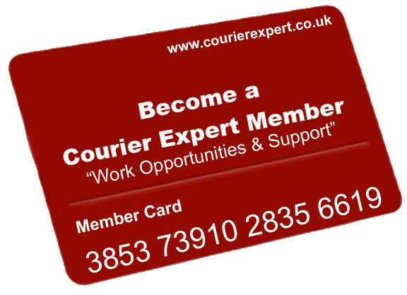 Courier Expert membership card for our courier network