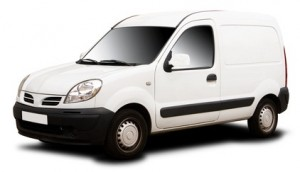 shows a small van that can be used for sameday courier work